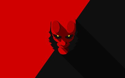 Hellboy, minimal, 2019 movie, David Harbour, Hellboy Movie, creative, Hellboy minimalism