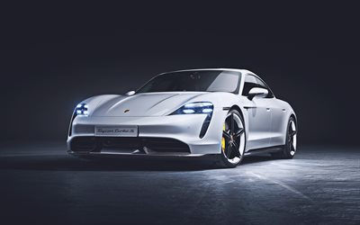 Porsche Taycan Turbo S, 4k, supercars, 2019 cars, german cars, 2019 Porsche Taycan, Porsche