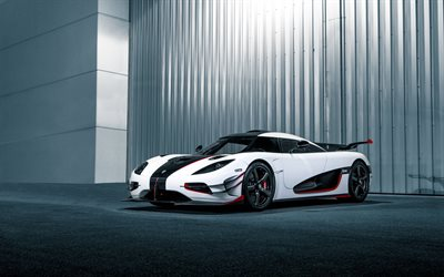 Koenigsegg Agera RS, white hypercar, luxury sports coupe, tuning Agera RS, white new Agera RS, sports cars, Koenigsegg
