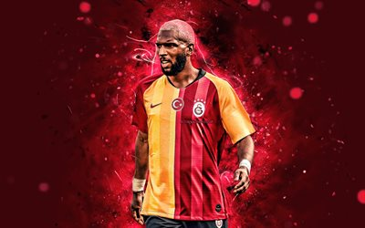 Ryan Babel, 4k, Galatasaray FC, Dutch footballers, soccer, forward, Turkish Super Lig, fan art, Turkey, Ryan Guno Babel, footaball, neon lights, Ryan Babel 4K