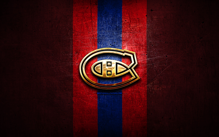 Download Wallpapers Montreal Canadiens Golden Logo Nhl