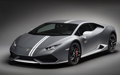 Lamborghini Huracan, 2017, LP610-4, Avio Edition, 4k, gray Huracan, sports car