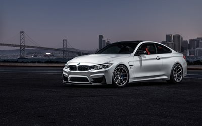 BMW M4, 2016, F82, white BMW, sports coupe, white M4
