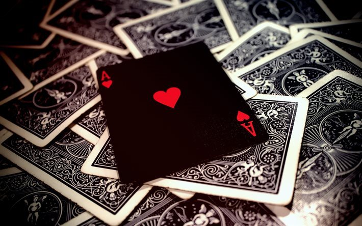 Download wallpapers poker, playing cards, ace, ace of ...