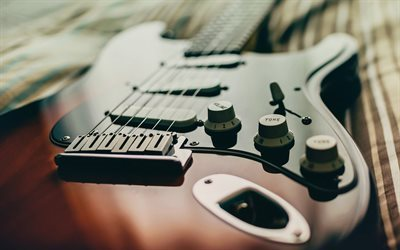 electric guitar, musical instruments, guitar strings