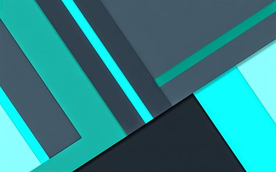 4k, material design, gray and ultramarine, lines, android lollipop, creative, geometric shapes, geometry