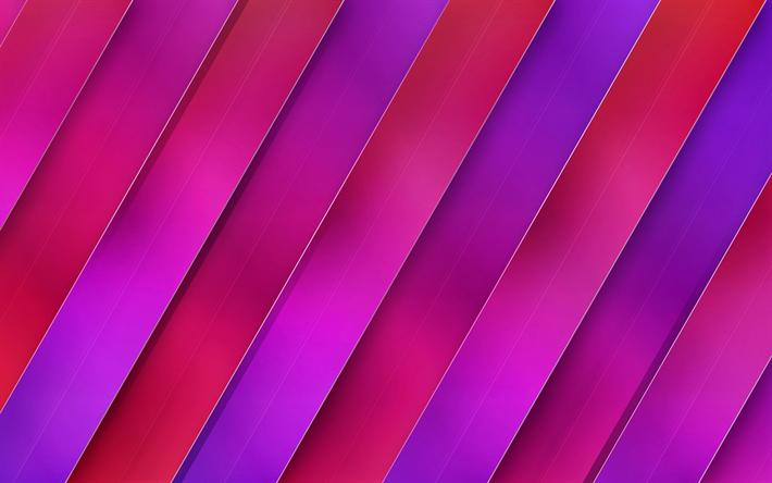 Herunterladen Hintergrundbild Lila Rosa Abstraktion Geometrischen