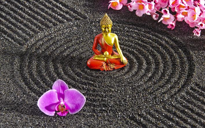 Herunterladen Hintergrundbild Zen Philosophie Buddhismus Kreis
