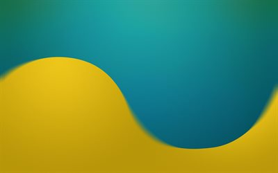 yellow blue wave background, waves background, creative wave background, blue-yellow wave