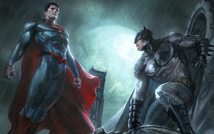 Scarica sfondi batman superman l 39 arte i supereroi per for Sfondi batman