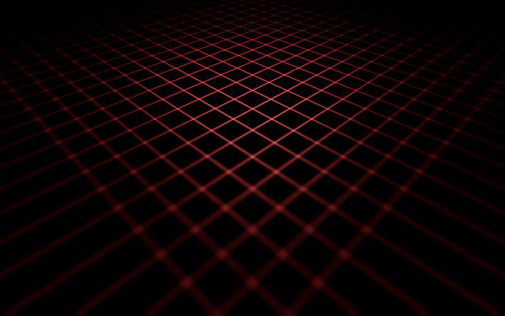 Neon Grid Darkness 4k Lines Creative