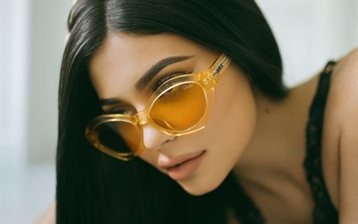 4k, Kylie Jenner, Quay, 2017, beauty, Hollywood, portrait