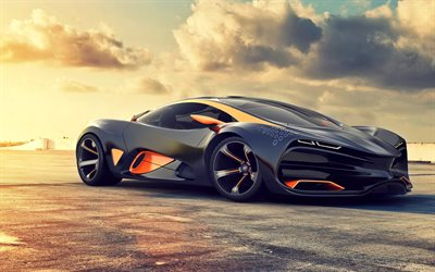 Lada Raven, supercar, concept, racing car, Russian sports cars