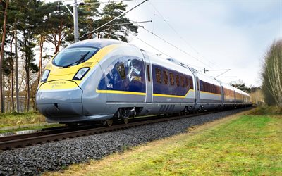 Eurostar E320, trains, 4k, British Rail Class 374, railway, Eurostar