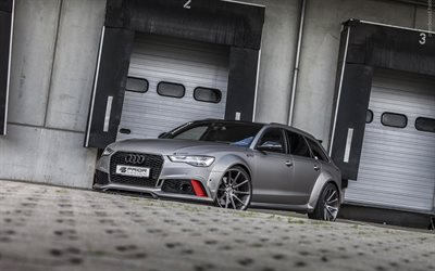 Prior Design, tuning, Audi A6 Avant, supercars, gray A6, german cars, Audi