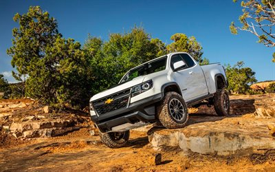 Chevrolet Colorado ZR2, 2018 cars, SUVs, offroad, desert, new Colorado ZR2, Chevrolet