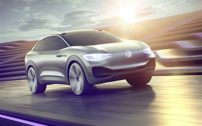 Volkswagen ID Crozz, 2017, future cars, crossover, electric car, concepts, Volkswagen