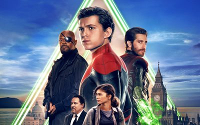 Spider-Man Far From Home, 4k, 2019 movie, poster, superheroes
