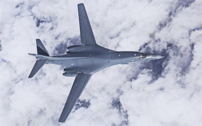 4k, Rockwell B-1 Lancer, bomber, B1-B Bomber, US Army, combat aircraft, Rockwell International