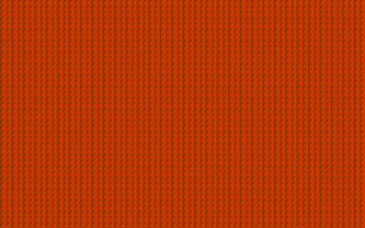 orange lego texture, 4k, macro, orange dots background, lego, orange backgrounds, lego textures, lego patterns