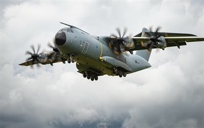 Airbus A400M, military transport aircraft, Royal Air Force, British military aircraft, RAF, Airbus Military