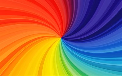 colorful twirl background, 4k, creative, vortex, rainbow backgrounds, colorful backgrounds, wavy textures, abstract backgrounds