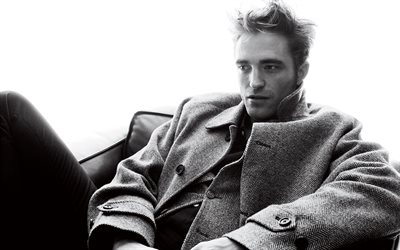 4k, Robert Pattinson, 2017, british actor, GQ, Hollywood, guys, celebrity, monochrome