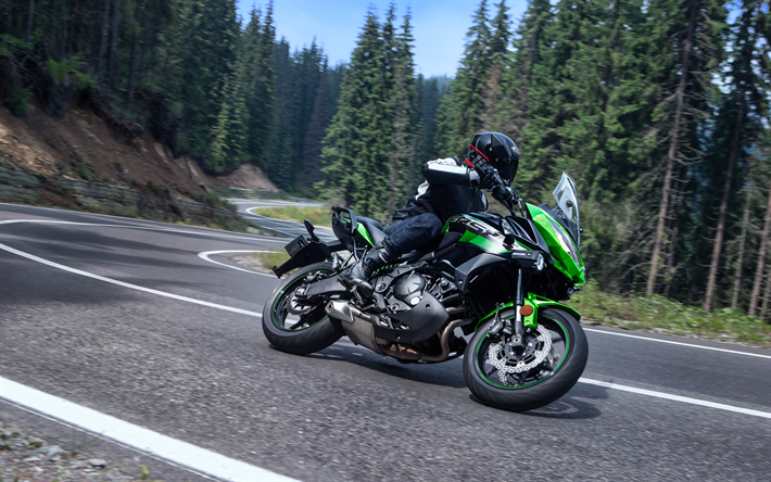 Télécharger Fonds D'écran Kawasaki Versys 650, 2018, 4k
