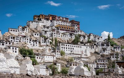Thikse Monastery, Buddhist monastery, Ladakh, India, attractions