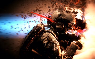4k, Battlefield 4, art, soldier, action-adventure