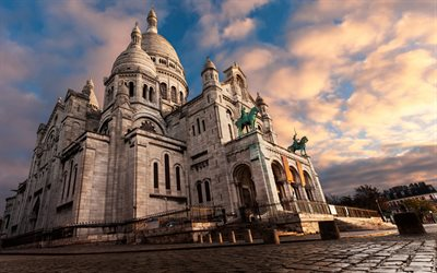 Basilica of the Sacred Heart, Paris, Roman Catholic church, Montmartre, France, attractions, Paris landmarks