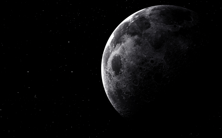 Scarica Sfondi 4k La Luna Il Cielo Nero Galaxy Cielo Stellato