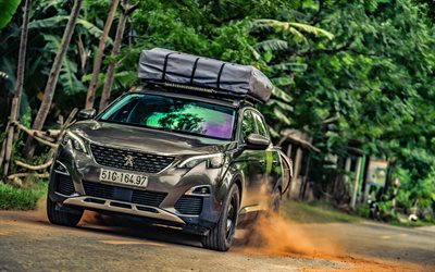Peugeot 3008, 4k, offroad, 2019 cars, crossovers, 2019 Peugeot 3008, french cars, Peugeot
