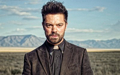 Dominic Cooper, English actor, portrait, photoshoot, brown suit, Dominic Edward Cooper