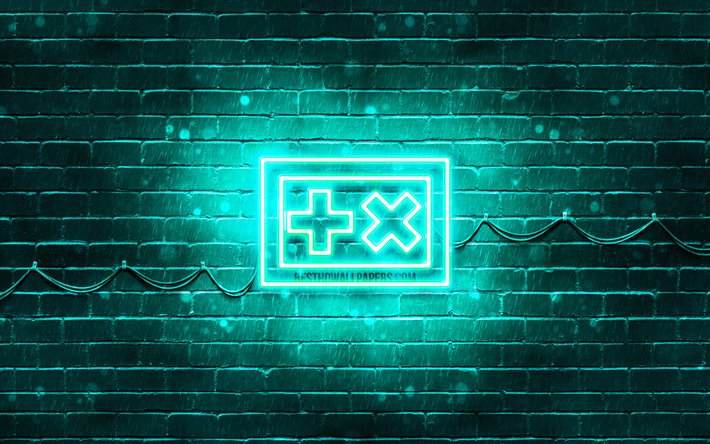 Martin Garrix turkuaz logo, 4k, superstars, Hollandalı DJ'ler, turkuaz brickwall, Martin Garrix logo, Martijn Garritsen Gerard, müzik yıldızları, Martin Garrix neon logo, Martin Garrix