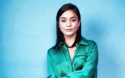Vanessa Hudgens, american actress, photoshoot, green dress, portrait, popular actress