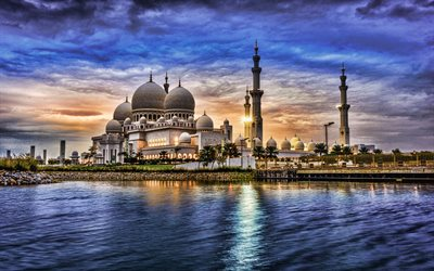 Sheikh Zayed Mosque, HDR, Abu Dhabi, United Arab Emirates, UAE, The Sheikh Zayed Grand Mosque