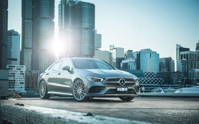 Mercedes-Benz CLA200 AMG, 4k, luxury cars, 2019 cars, C118, 2019 Mercedes-Benz CLA-class, german cars, Mercedes