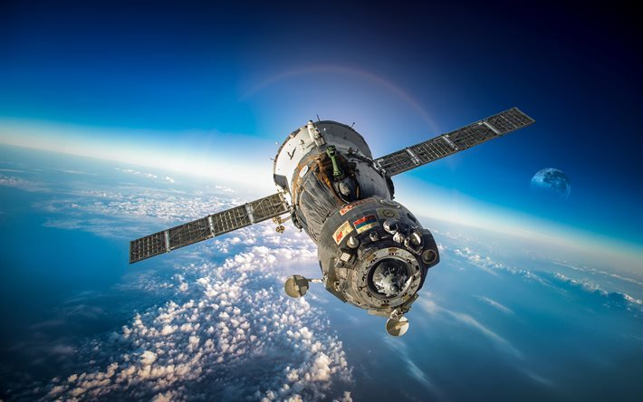 Soyuz, spacecraft, spaceship Soyuz, open space, Russia, Russian spacecraft