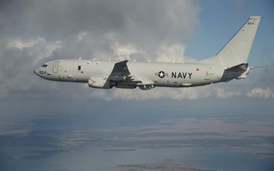 Boeing P-8 Poseidon, military aircraft, transport aircraft, reconnaissance aircraft, anti-submarine patrol aircraft