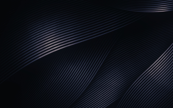 Download wallpapers 4k abstract waves creative dark for Sfondi material design