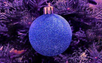 herunterladen hintergrundbild blue christmas ball. Black Bedroom Furniture Sets. Home Design Ideas
