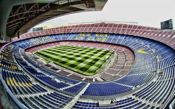 Fondos De Pantalla Camp Nou España El Fc Barcelona: Descargar Fondos De Pantalla El Camp Nou, 4k, Barcelona