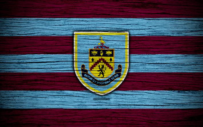 Download Wallpapers Burnley, 4k, Premier League, Logo