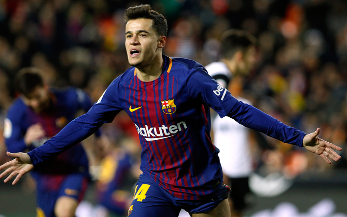 Download Wallpapers Philippe Coutinho, Goal, Barcelona FC