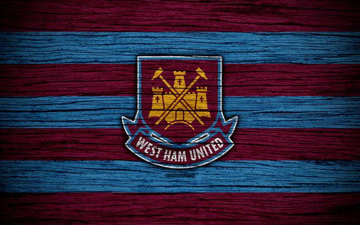 Download Wallpapers West Ham United, 4k, Premier League