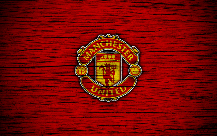 Download wallpapers manchester united 4k premier league logo manchester united 4k premier league logo england wooden texture fc voltagebd Gallery