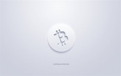 Bitcoin Cash logo, 3d white logo, 3d art, white background, cryptocurrency, Bitcoin Cash, finance concepts, business