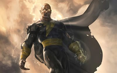 Black Adam, 2021, promotional materials, poster, Dwayne Johnson, art, main character