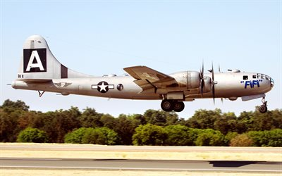 Boeing B-29 Superfortress, american heavy bomber, B-29, US Navy, Second World War, USA